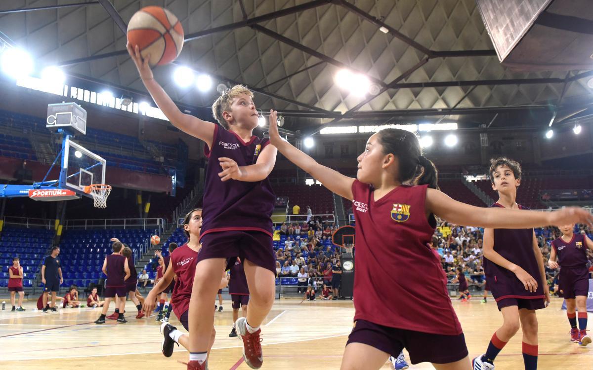 La FCBEscola Basket celebra la jornada de clausura de su primera temporada