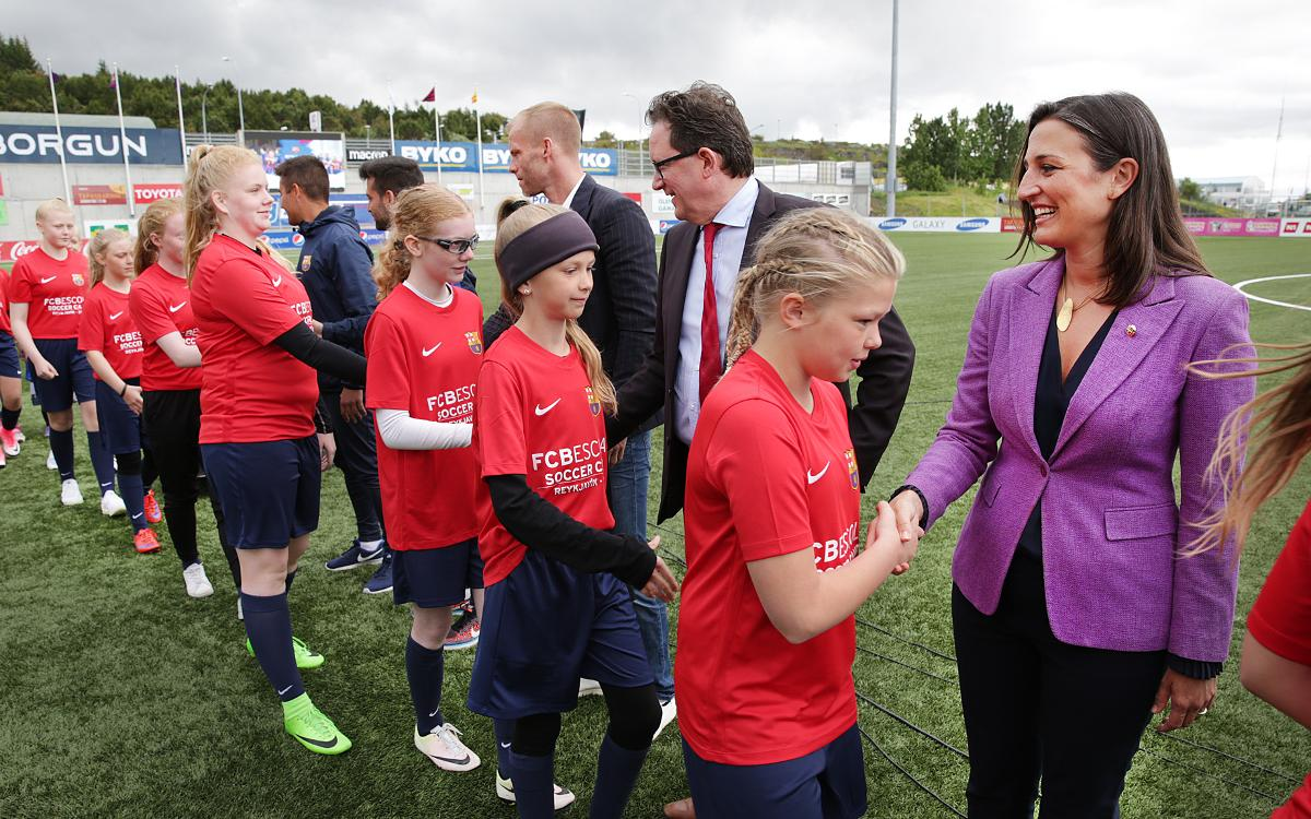 Maria Teixidor closes FCBCamp for girls in Iceland