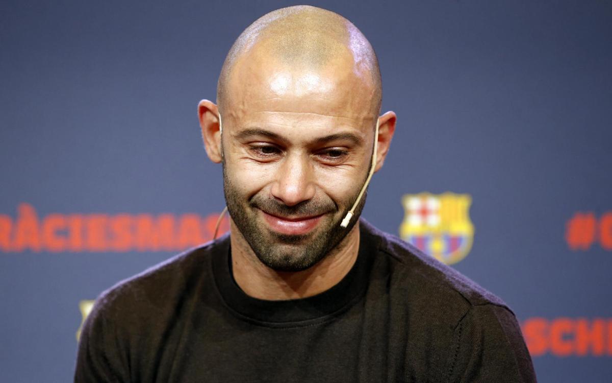 Javier Mascherano's Barça farewell stirs deep emotions