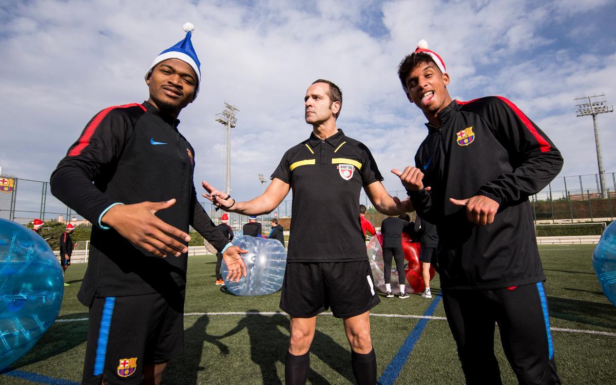 La felicitación navideña del Barça B
