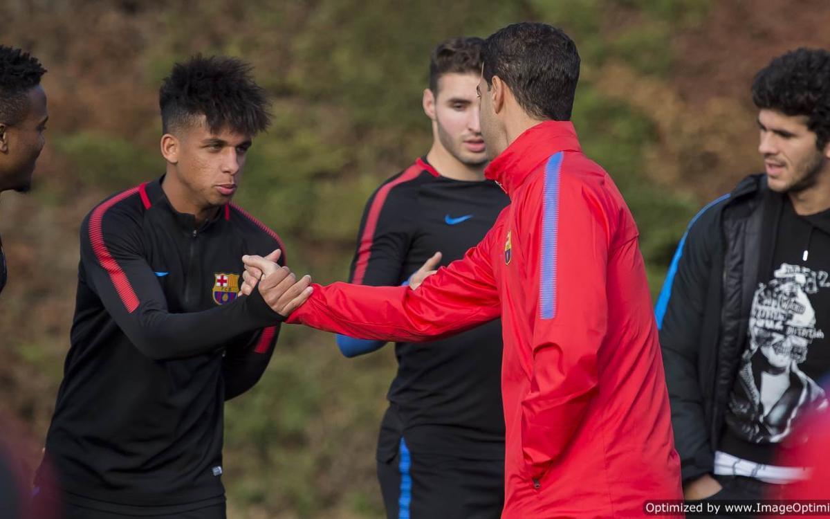 El Barça B ya ha vuelto al trabajo en la Ciudad Deportiva