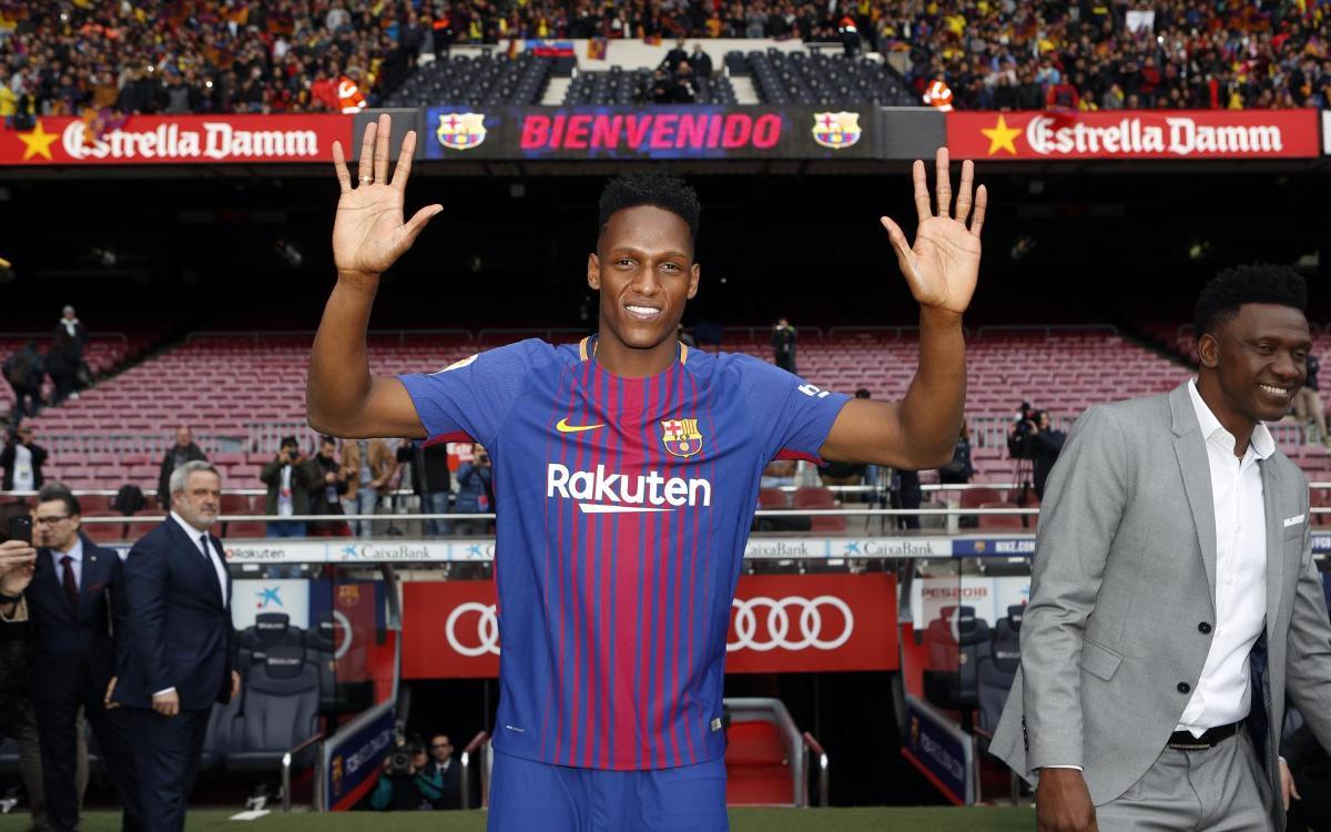 Yerry Mina, el techo del Barça