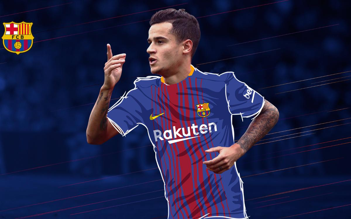 Philippe Coutinho s'engage avec le FC Barcelone