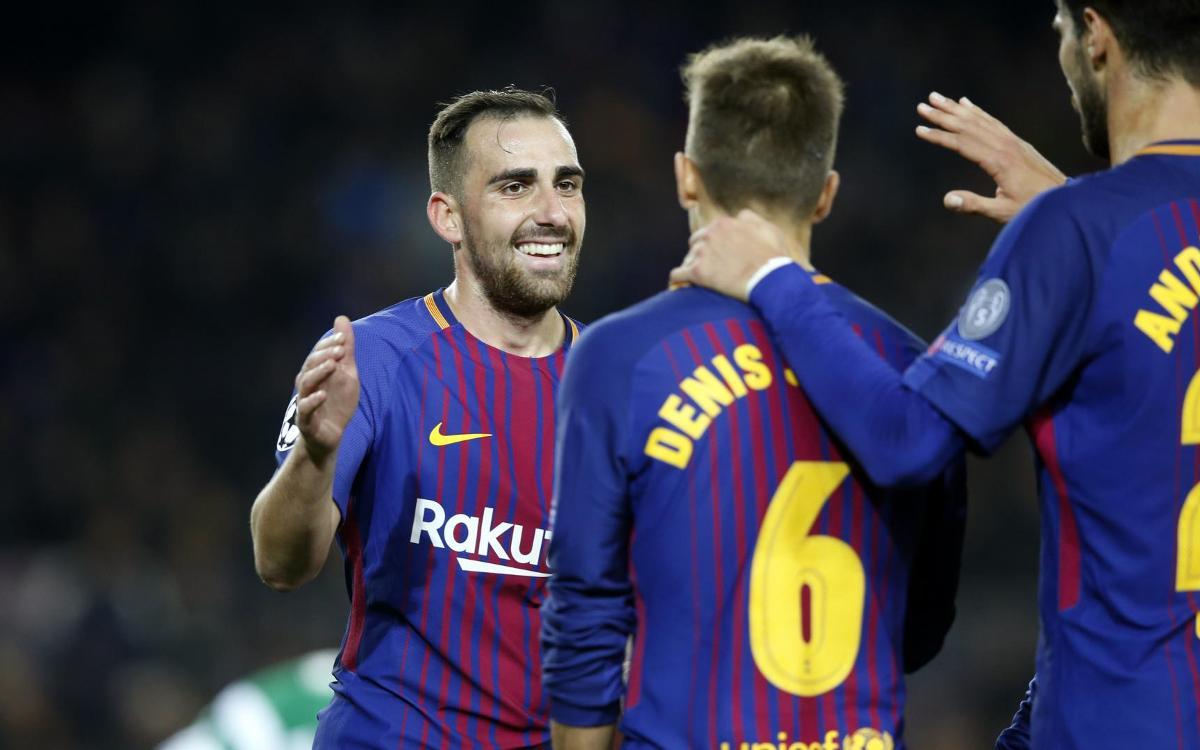 FC Barcelona - Sporting Clube: Triunfo para cerrar la fase de grupos (2-0)