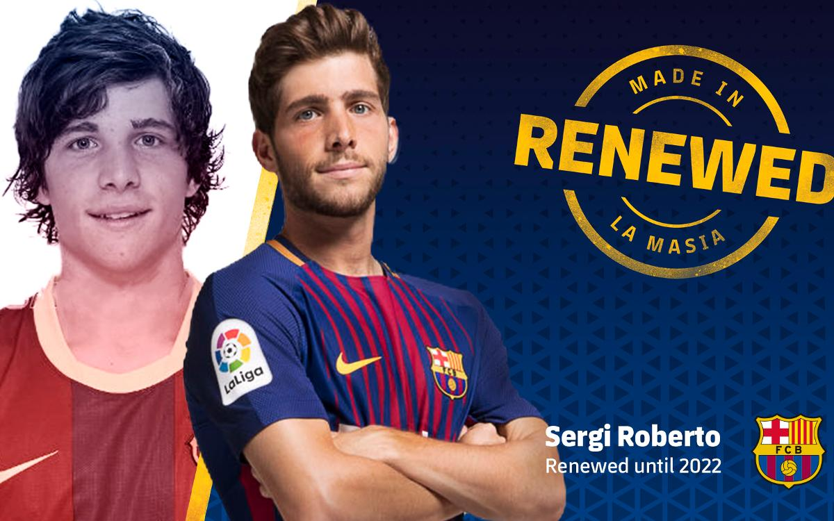Sergi Roberto and FC Barcelona agree contract renewal through to 2022