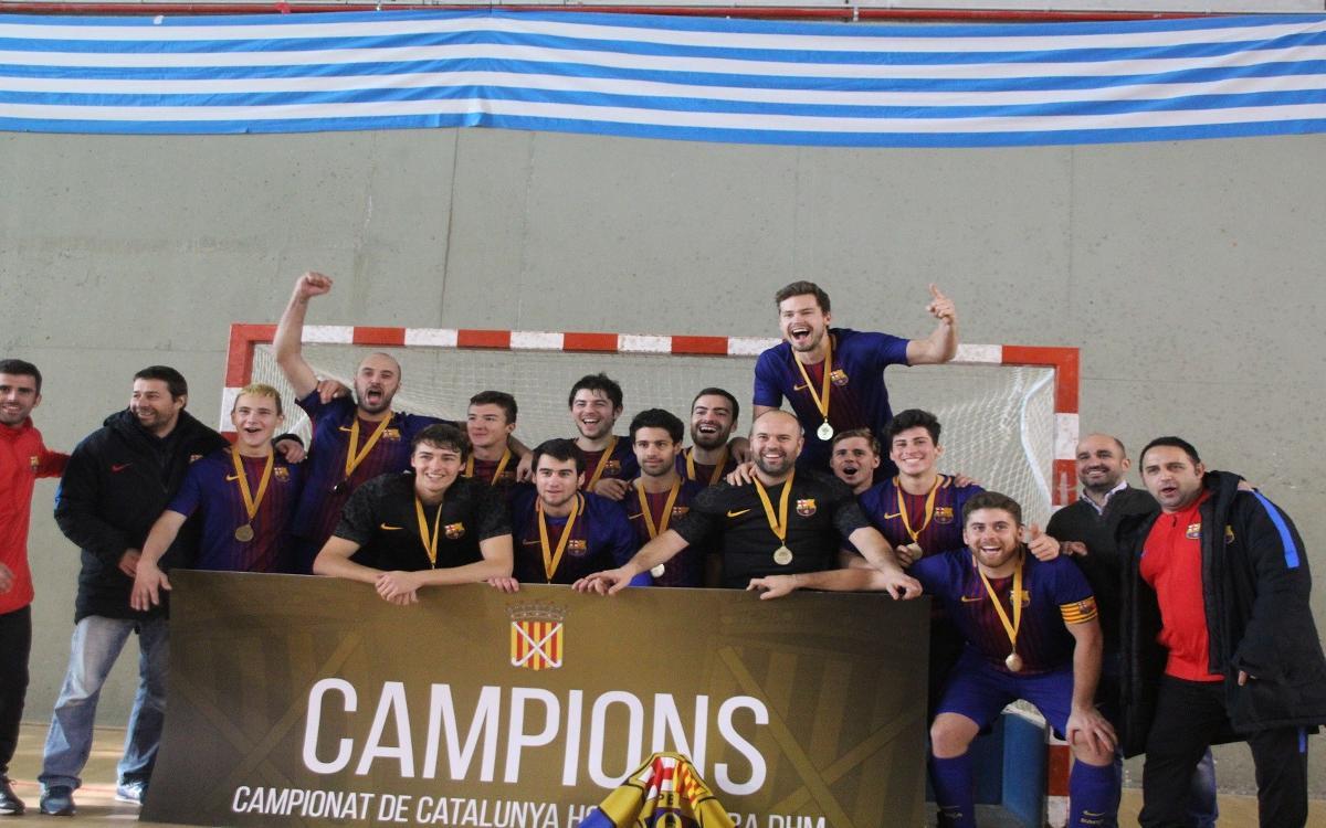 El Barça, campeón de Cataluña de hockey sala tras superar al CD Terrassa (1-0)