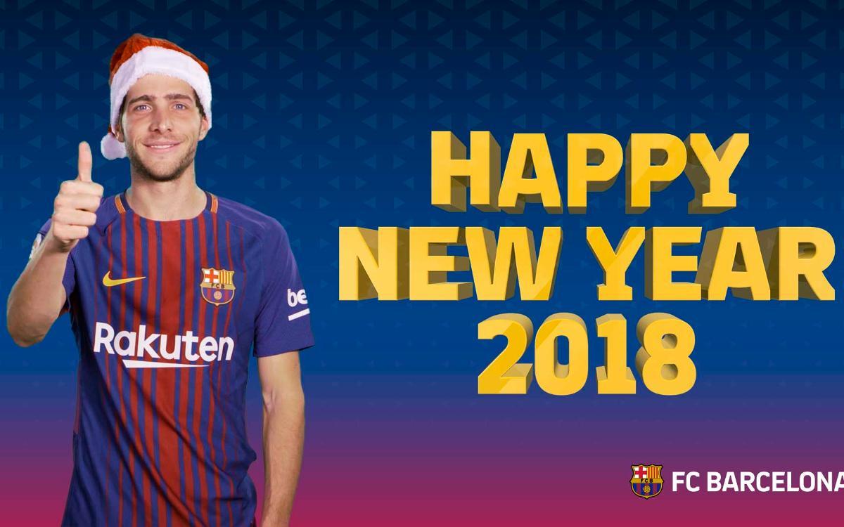 バルサファンへ謹賀新年!