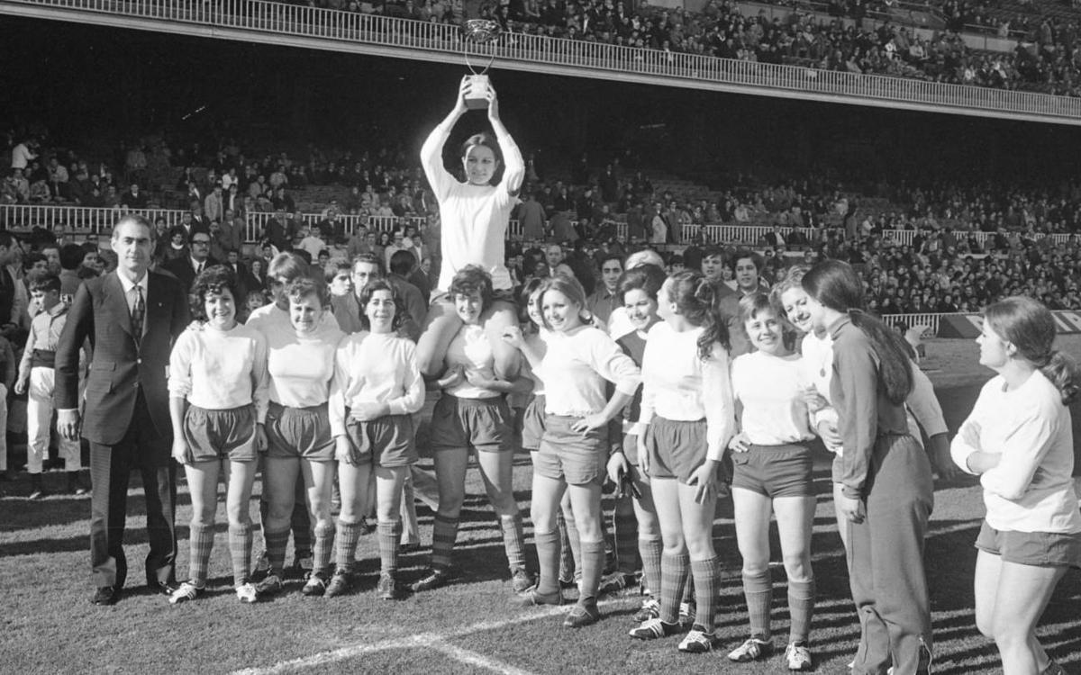 Mor Imma Cabecerán, pionera del futbol femení blaugrana