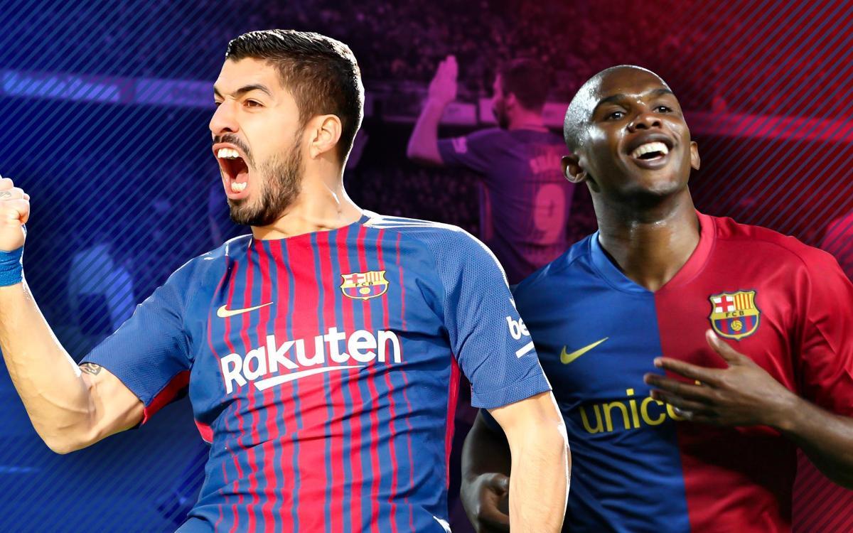 Luis Suárez dépasse le nombre de buts de Samuel Eto'o avec le FC Barcelone