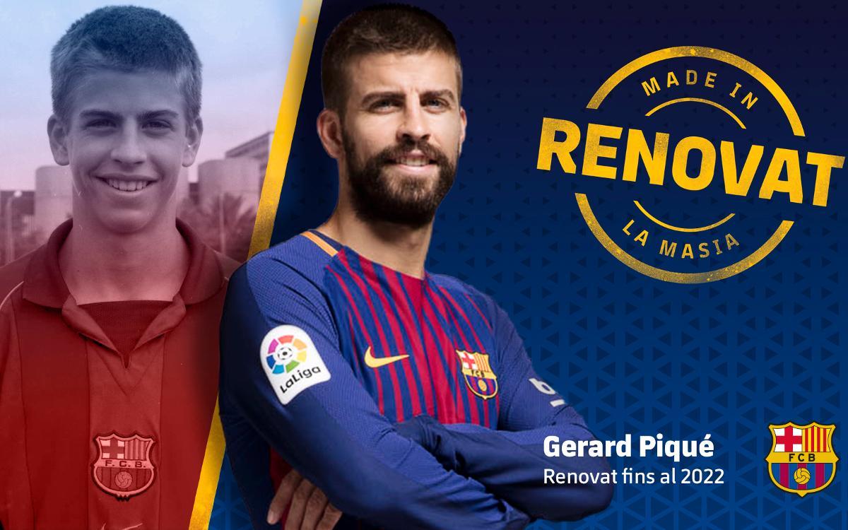 Acord de renovació amb Gerard Piqué fins al 2022
