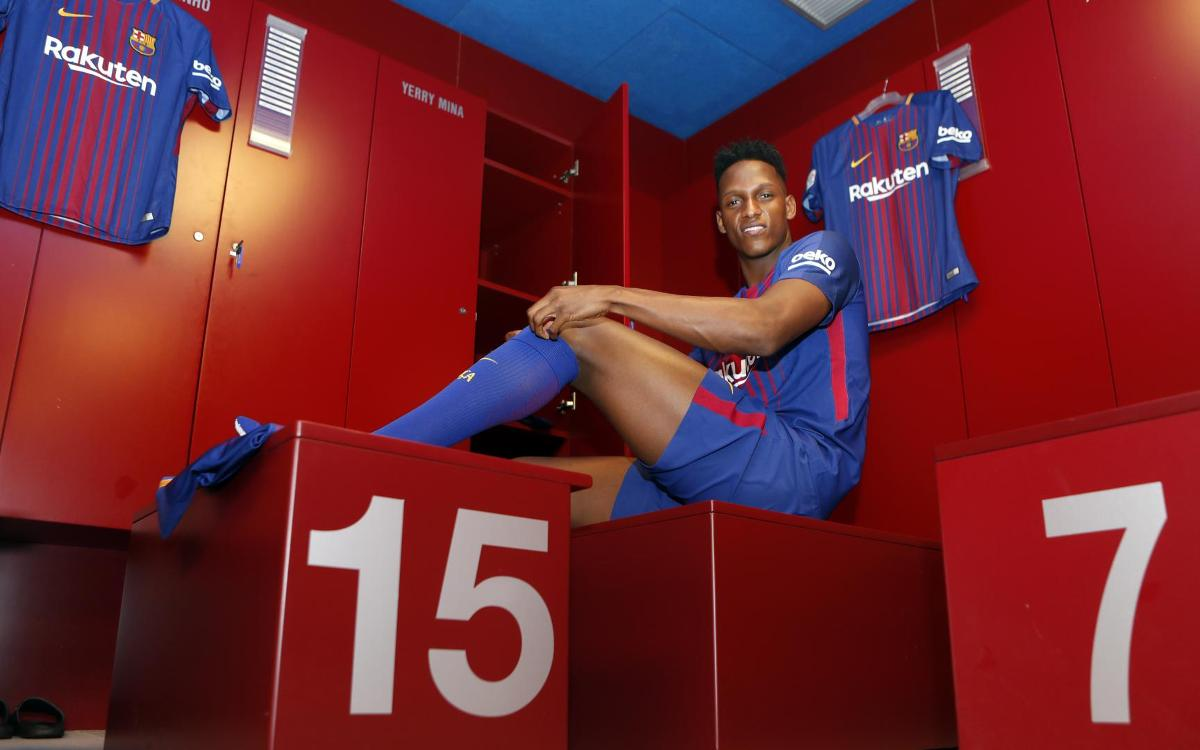 INSIDE VIEW: Yerry Mina's second day at FC Barcelona