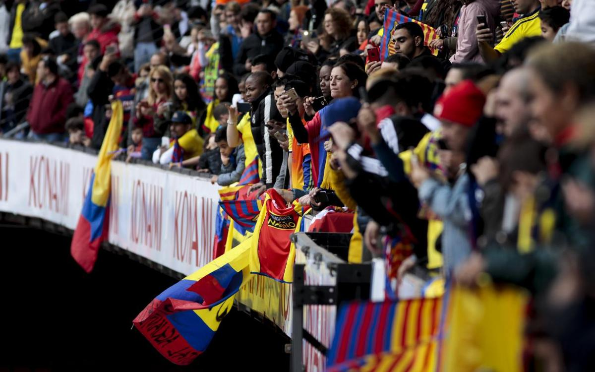 8,552 fans party at Camp Nou to welcome Yerry Mina