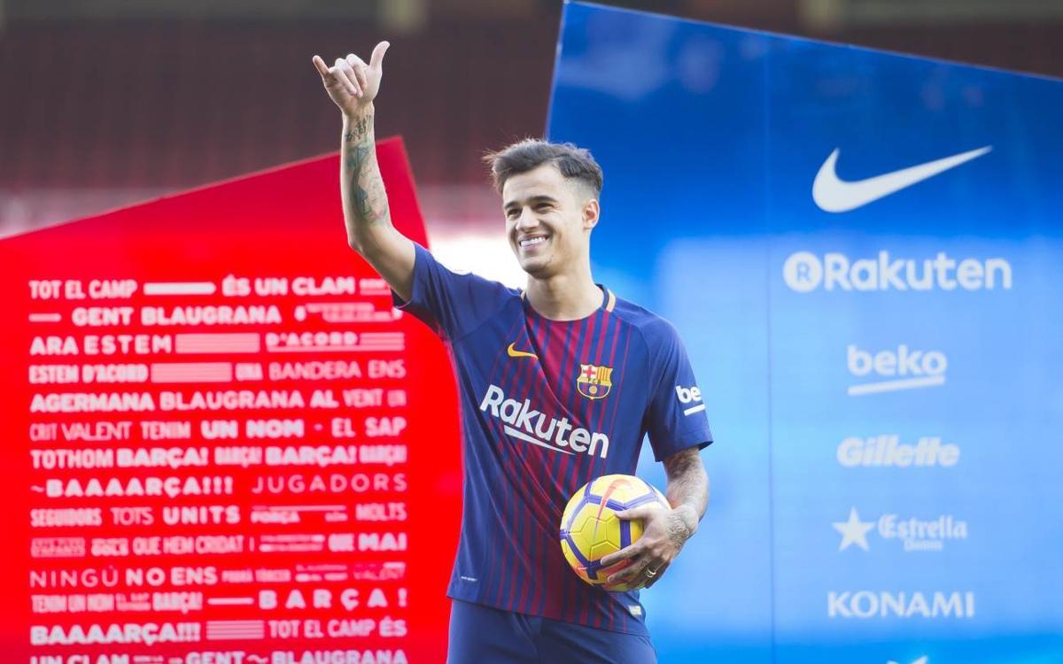 Coutinho présenté au Camp Nou