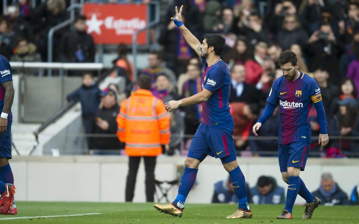 Luis Suárez 10th on the all-time scoring list