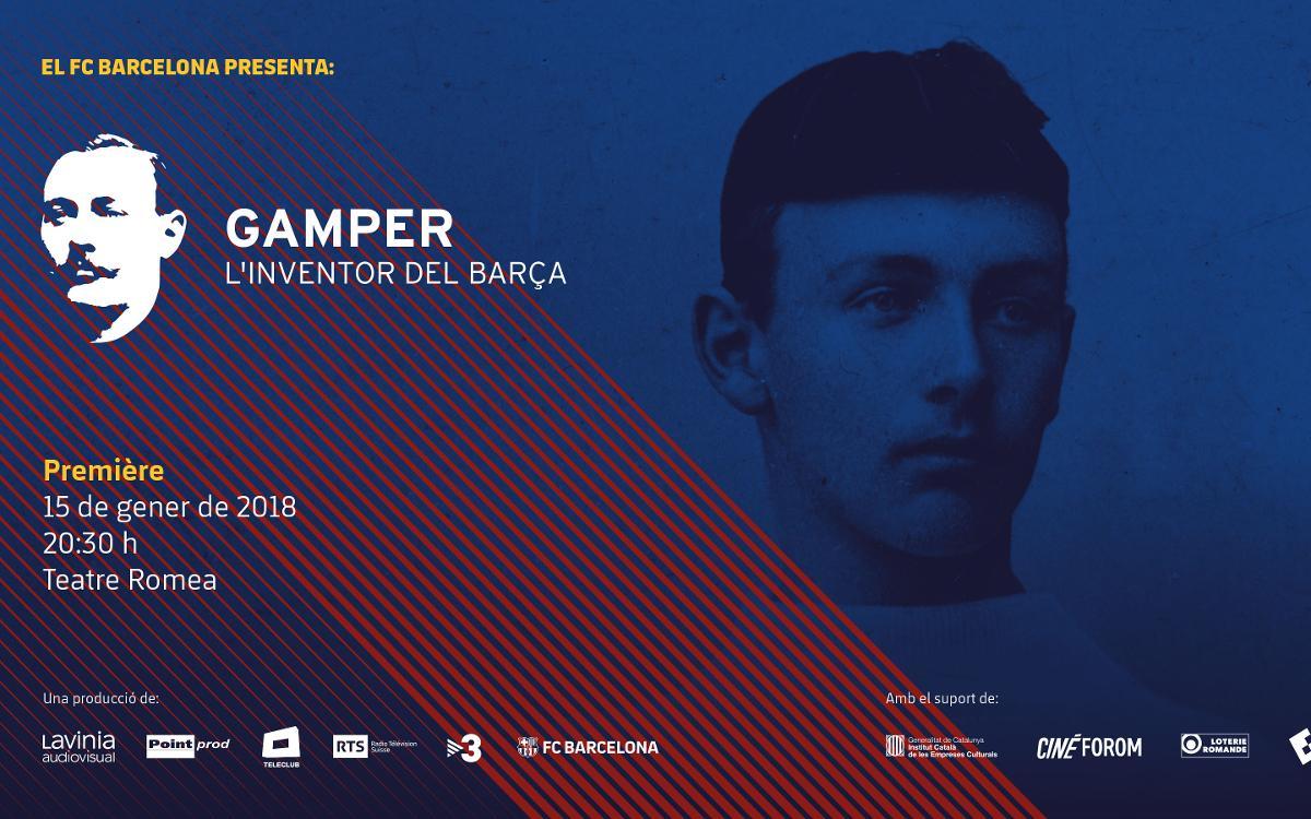 El FC Barcelona y Lavinia Audiovisual presentan el documental 'Gamper, el inventor del Barça'