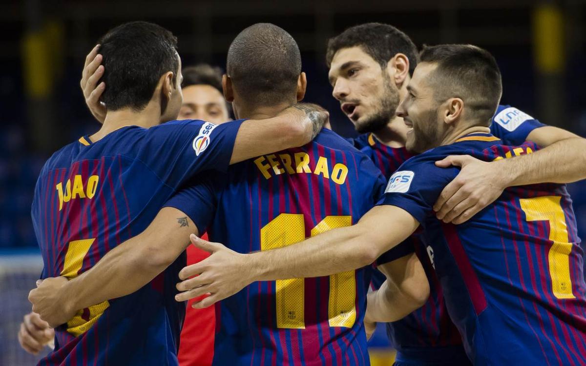 FC Barcelona Lassa 3-1 Santiago Futsal: Still top