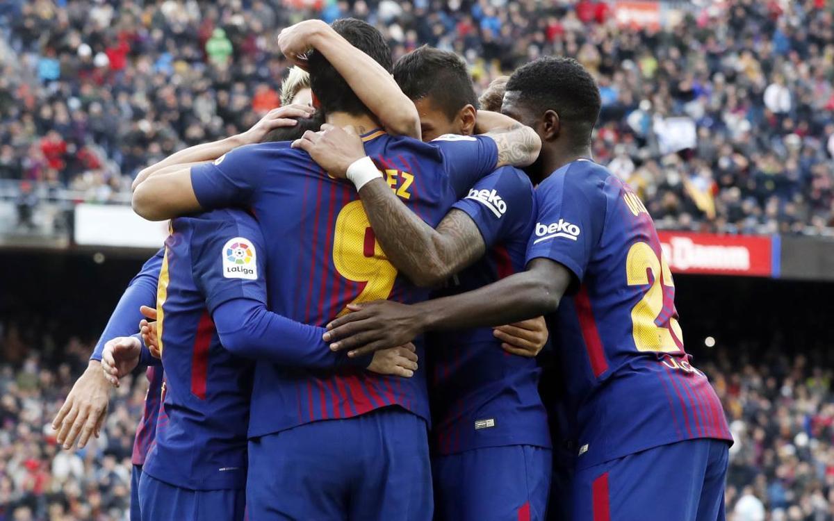 El FC Barcelona, entre los cuatro equipos invictos en Europa