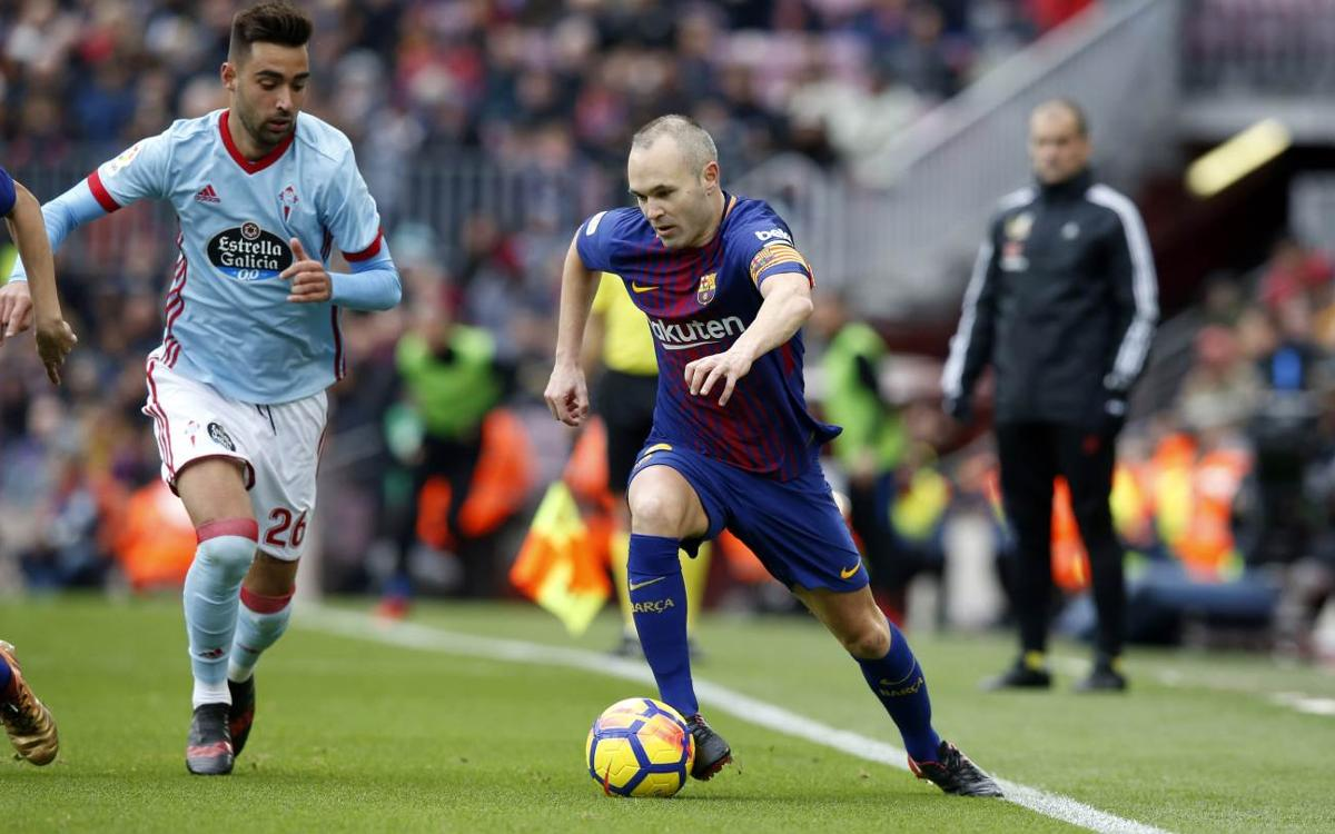 Andrés Iniesta to miss next game