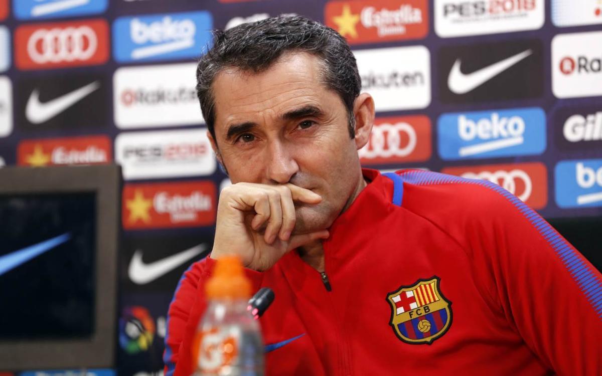 Ernesto Valverde: Derby a special motivation in the Copa del Rey