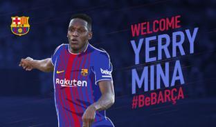 Barça fans welcome new FC Barcelona player Yerry Mina
