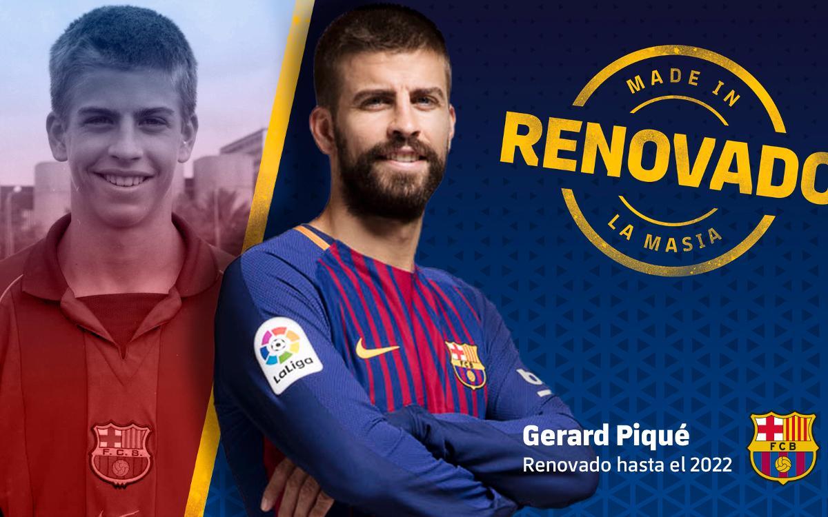 Acuerdo de renovación con Gerard Piqué hasta el 2022