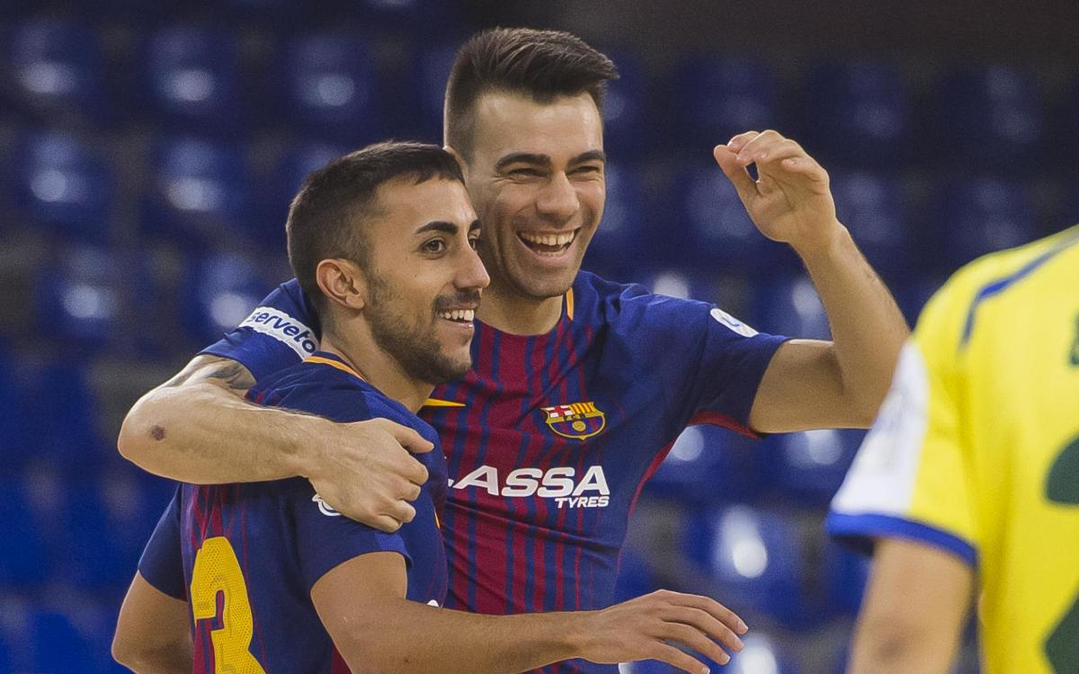 FC Barcelona Lassa 9-2 Gran Canaria FS: Halfway point reached with a win