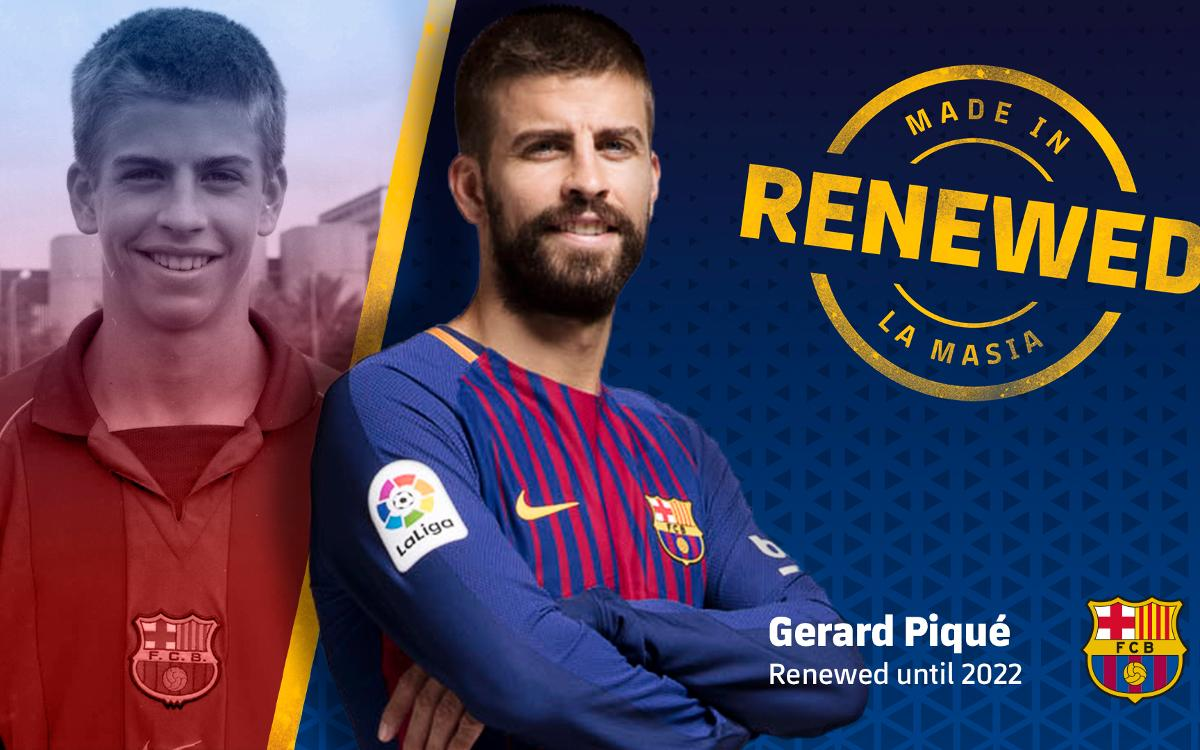 Piqué prolonge jusqu'en 2022 au FC Barcelone