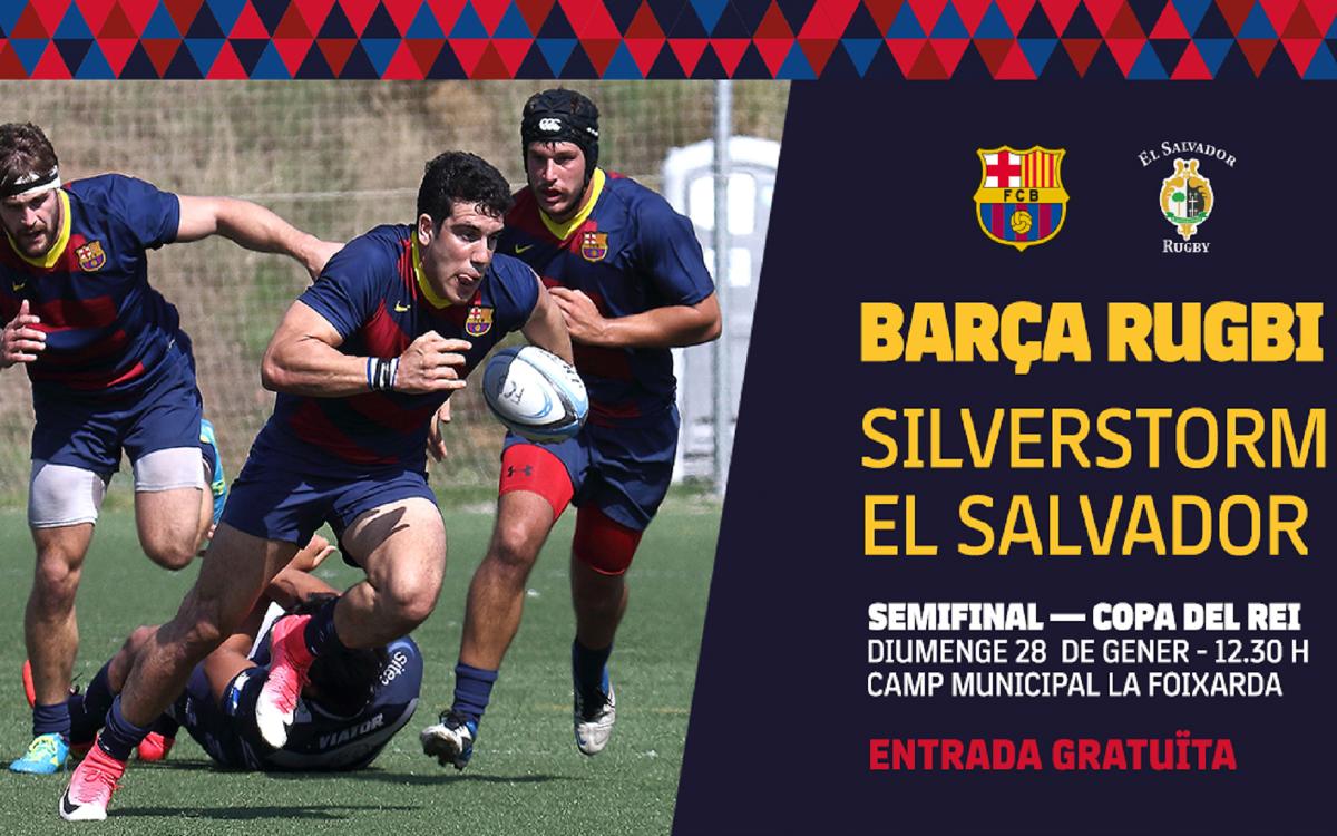 La semifinal de la Copa de rugby en Barça TV