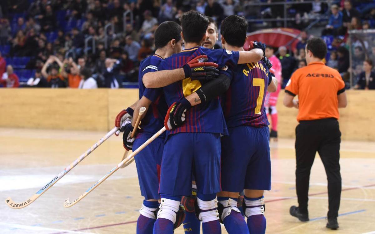 Barça Lassa - Igualada: Victoria para seguir arriba (2-0)