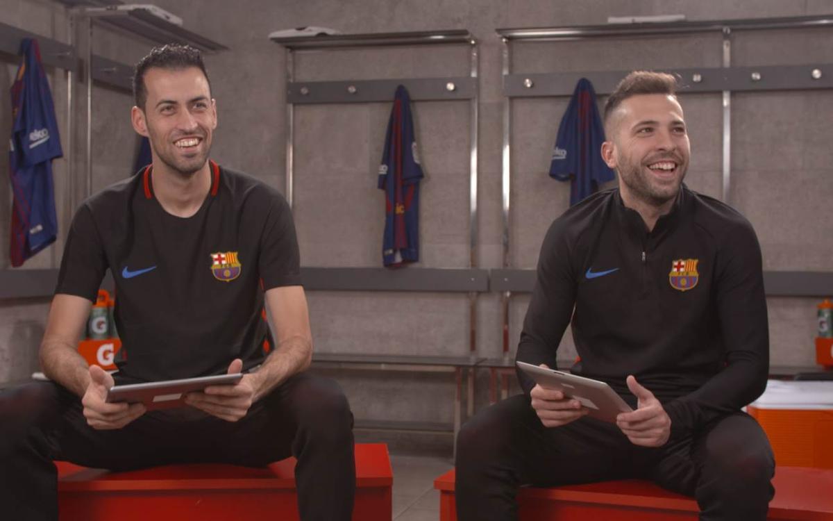 Sergio i Jordi Alba es posen a prova amb el test del Clàssic