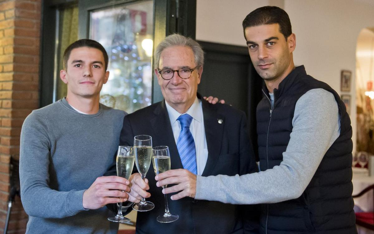 Dinar de Nadal del Barça B amb els millors desitjos