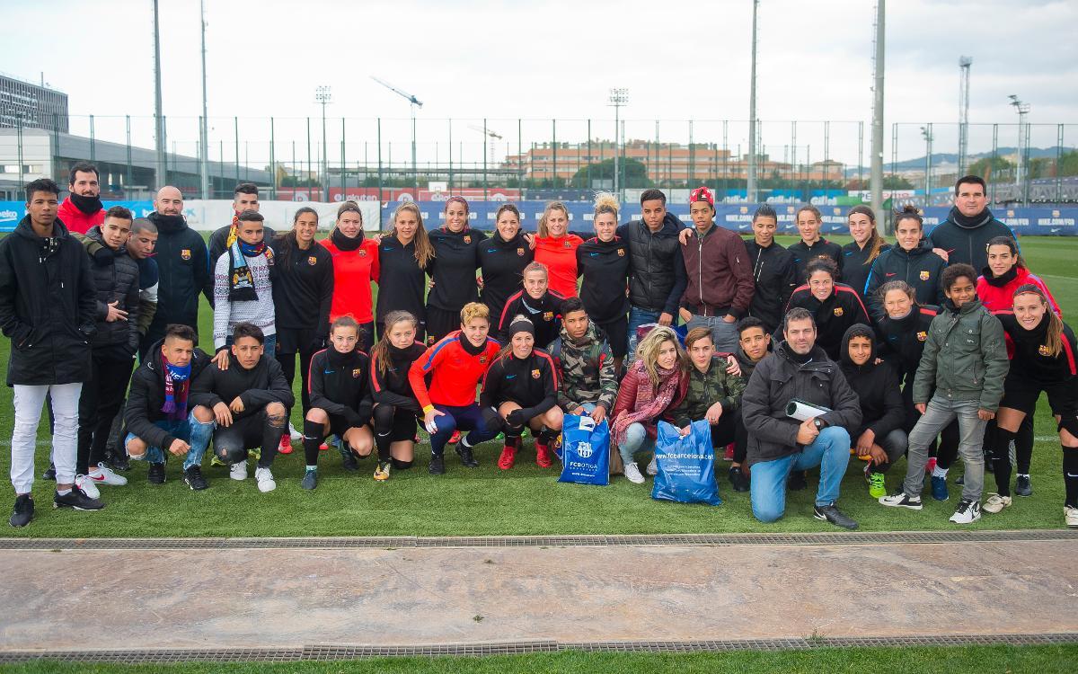El gesto solidario del Barça Femenino
