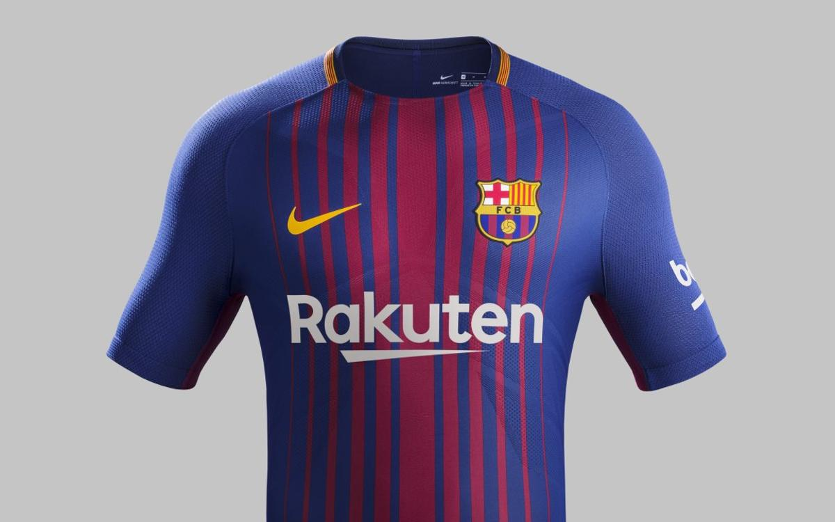 The new FC Barcelona kit for the 2017 18 season 74d0dadd635bc