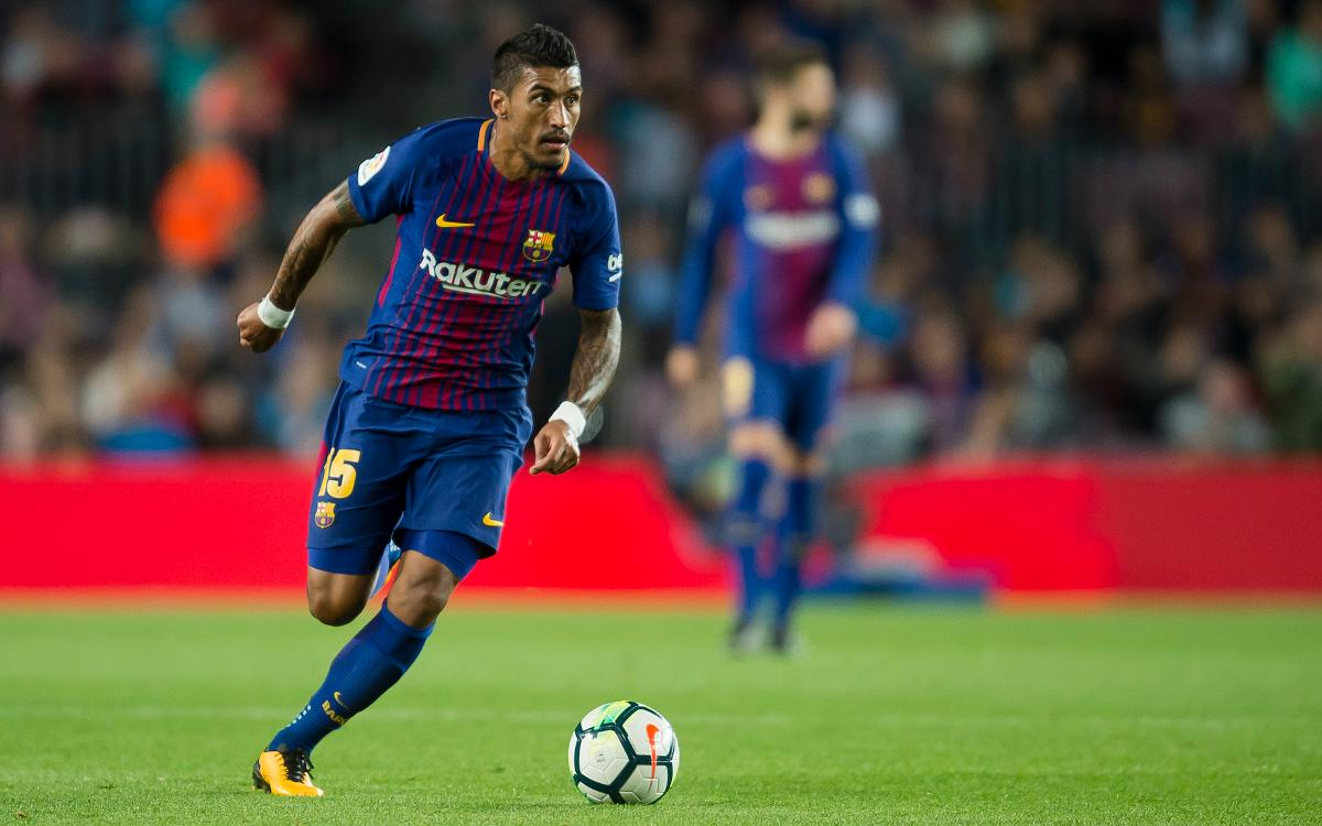 Barça's Paulinho nominated for 2017 Samba Gold award