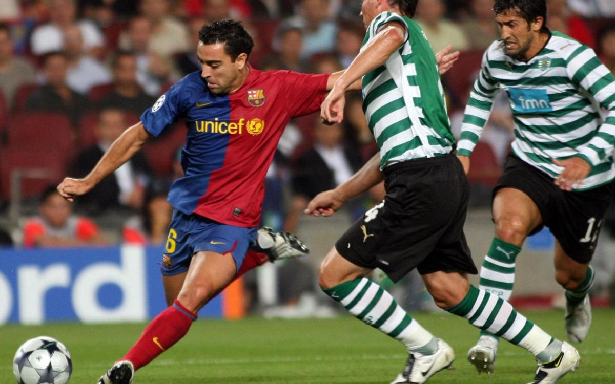 What happened the last time Barça hosted Sporting Clube at Camp Nou?