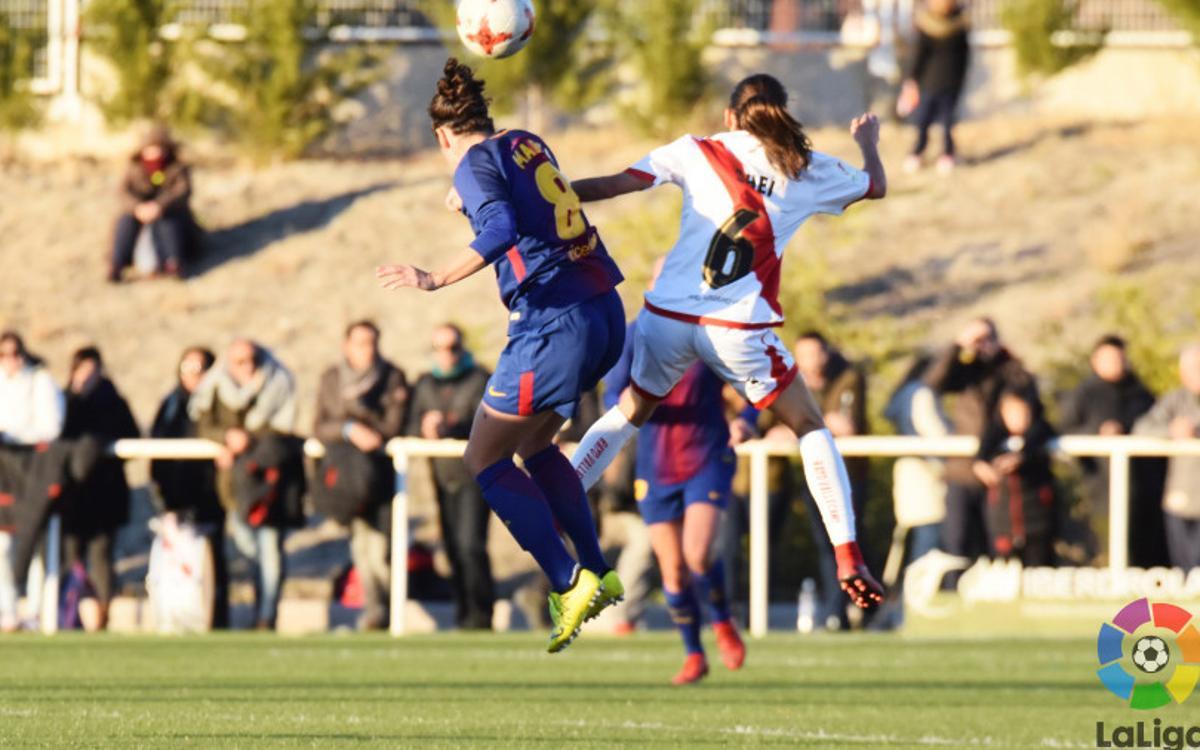 Rayo Vallecano - FC Barcelona Femení: Líders per acabar l'any (1-2)
