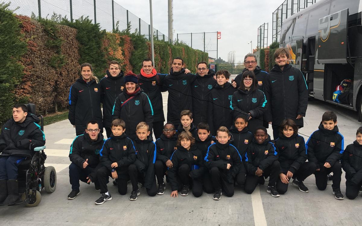 El Barça participa en el Festival del Fútbol Inclusivo en Madrid