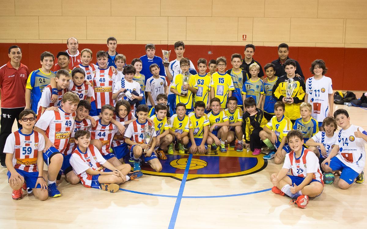 El torneig aleví del Barça Lassa d'handbol