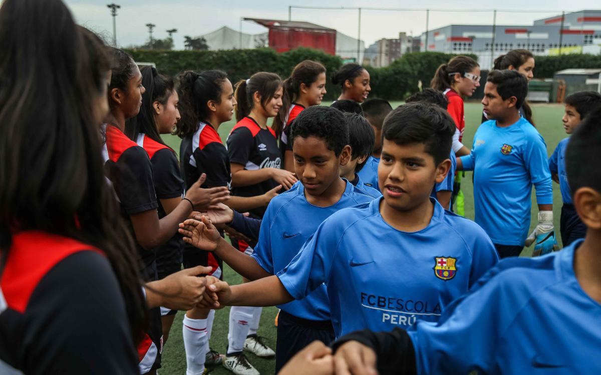 L'FCBEscola del Perú, d'amistosos amb la selecció femenina Sub-17