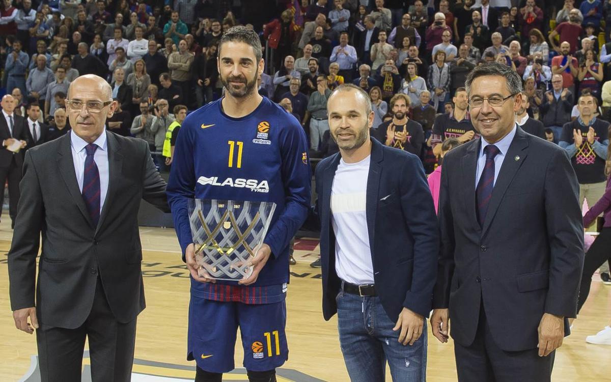 Palau honours Juan Carlos Navarro
