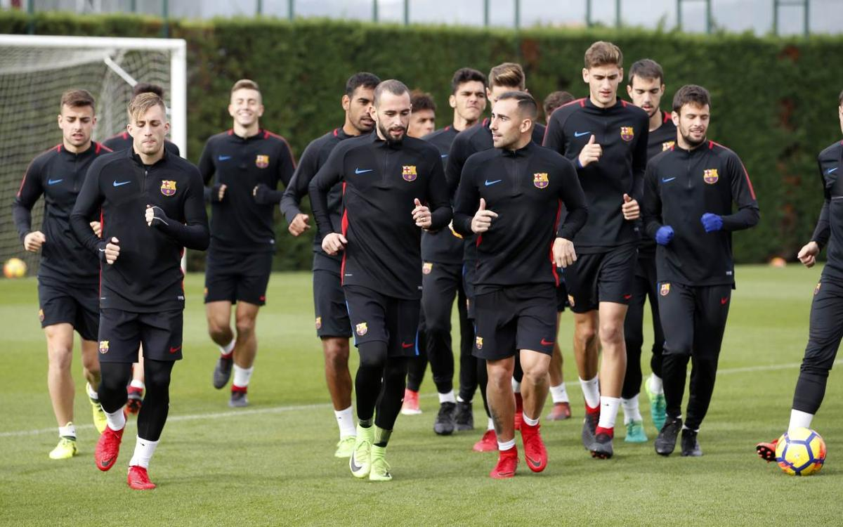 Second session of the week with Barça B