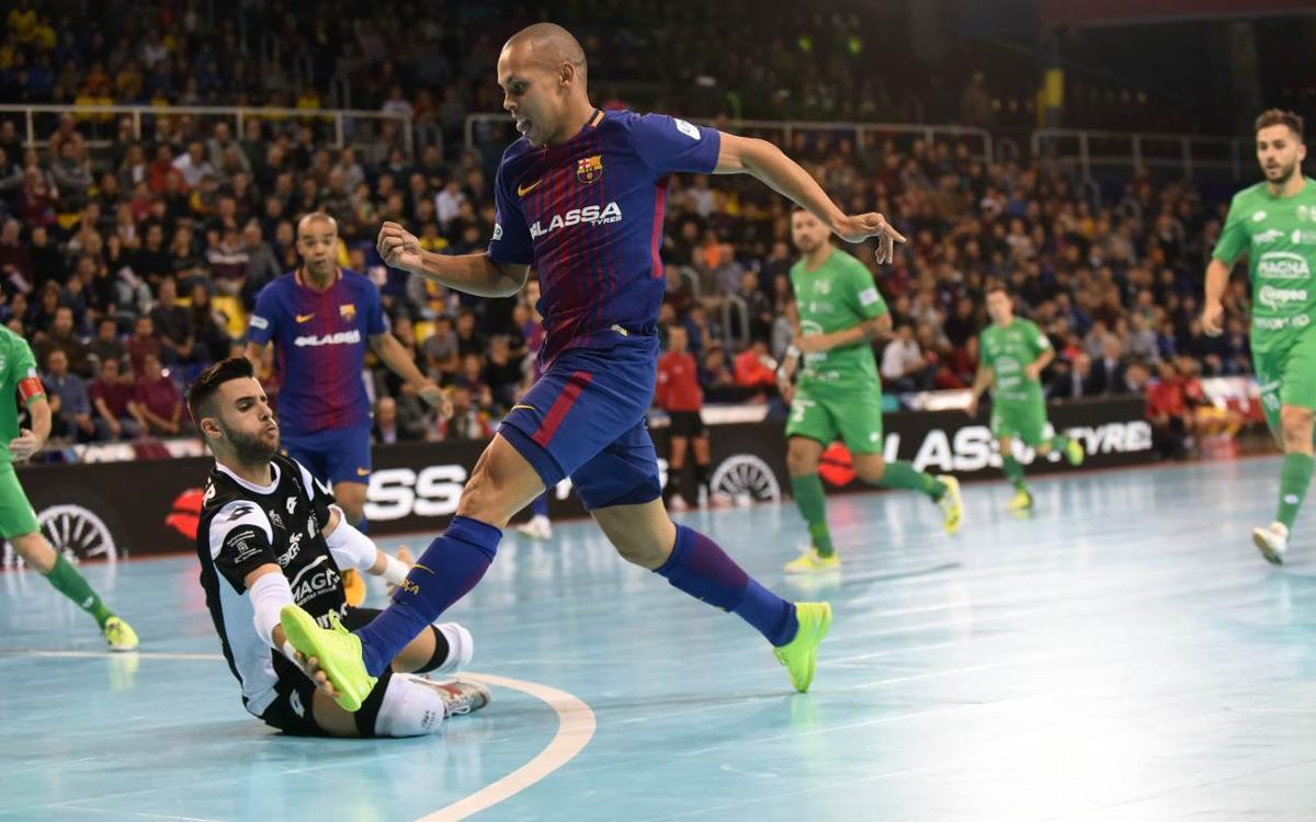 FC Barcelona Lassa - Osasuna Magna: Penalizados en el tramo final (3-3)