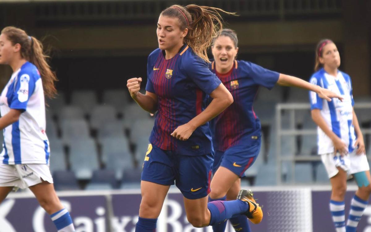 FC Barcelona-Sporting de Huelva:La estrategia decanta el duelo del Mini (3-0)