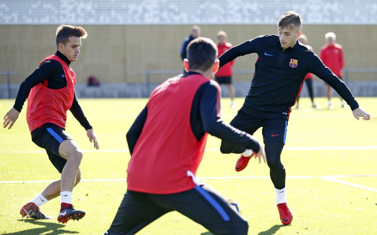 Joint training session with Barça B