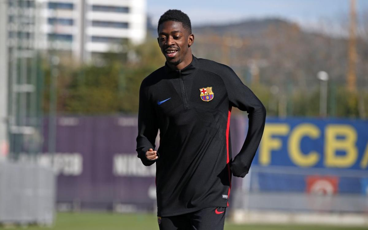 Dembélé continues on the road to recovery