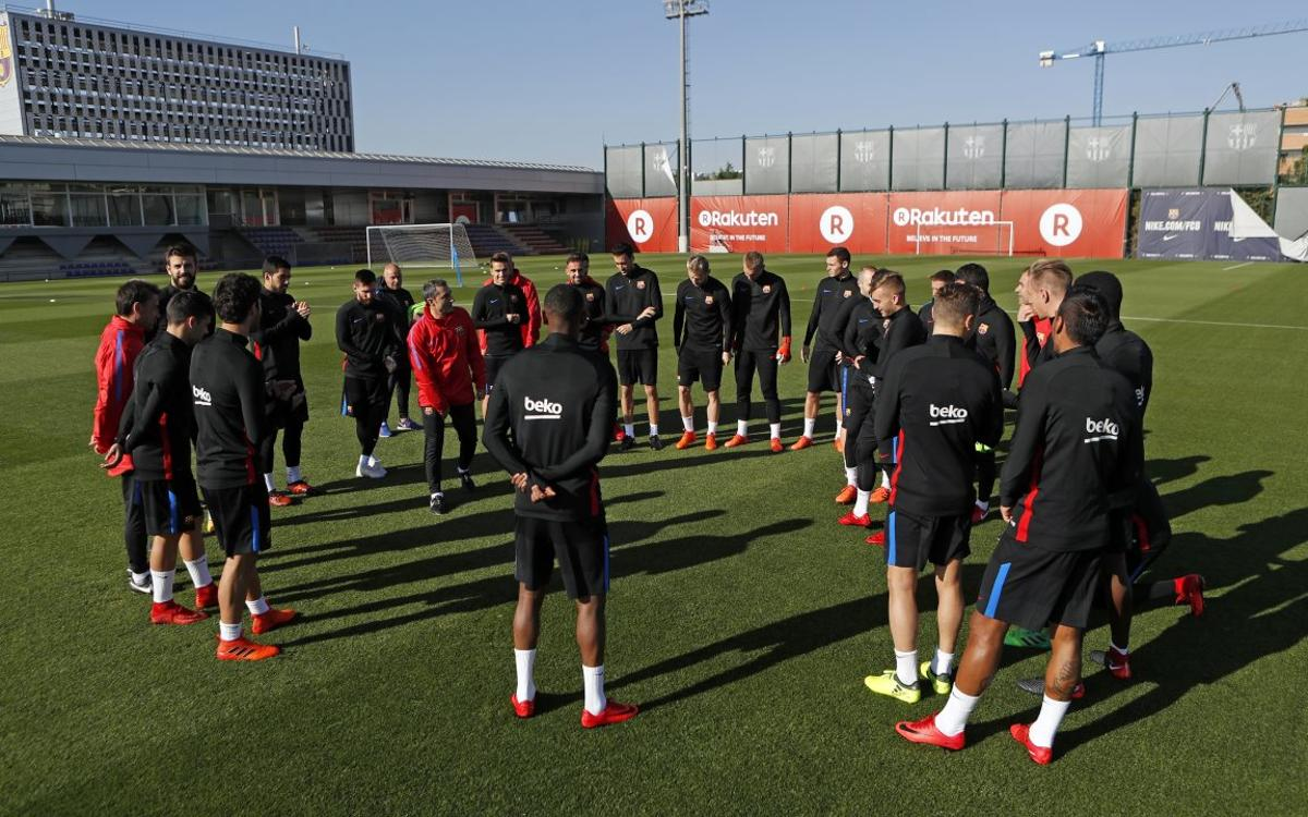 Barça trains and names squad for Juventus clash