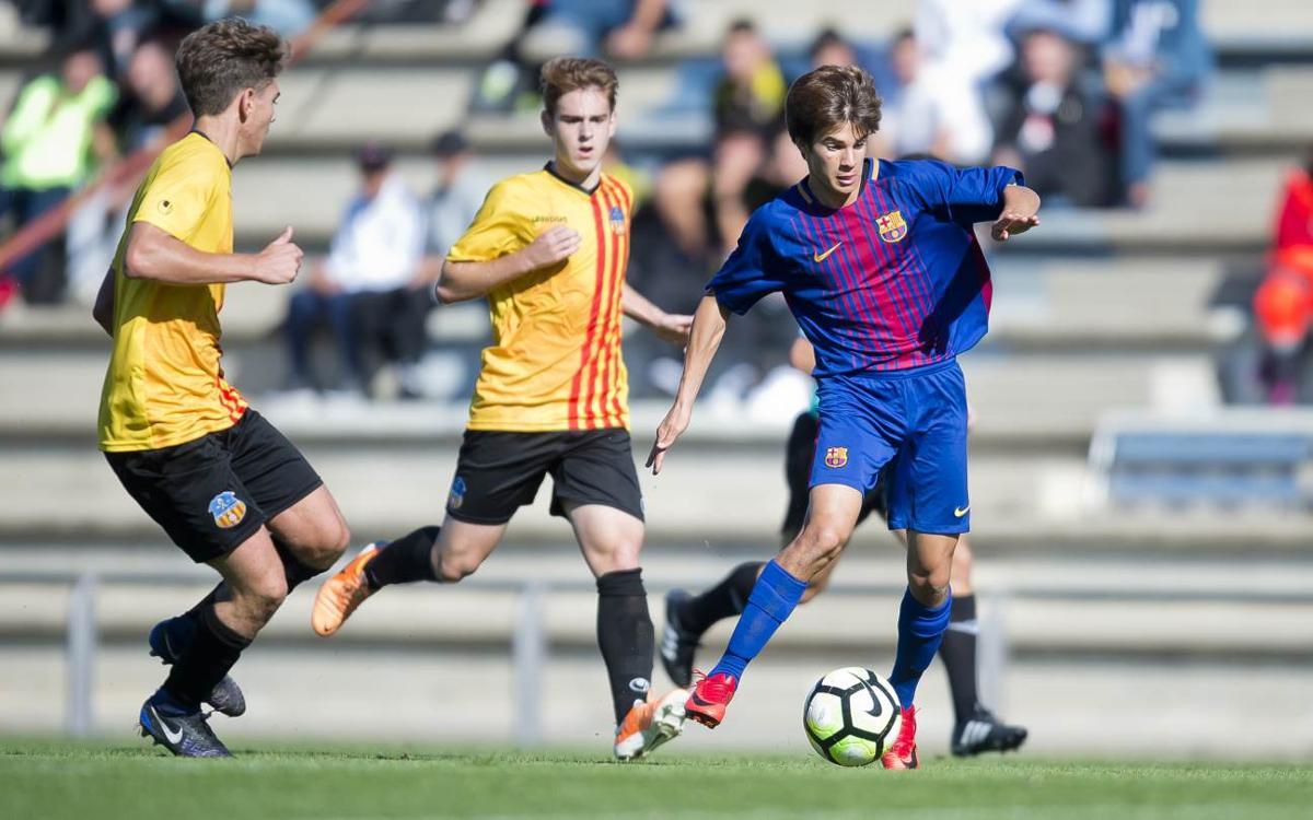 Juvenil A – Sant Andreu: Goleada para continuar presionando (4-0)