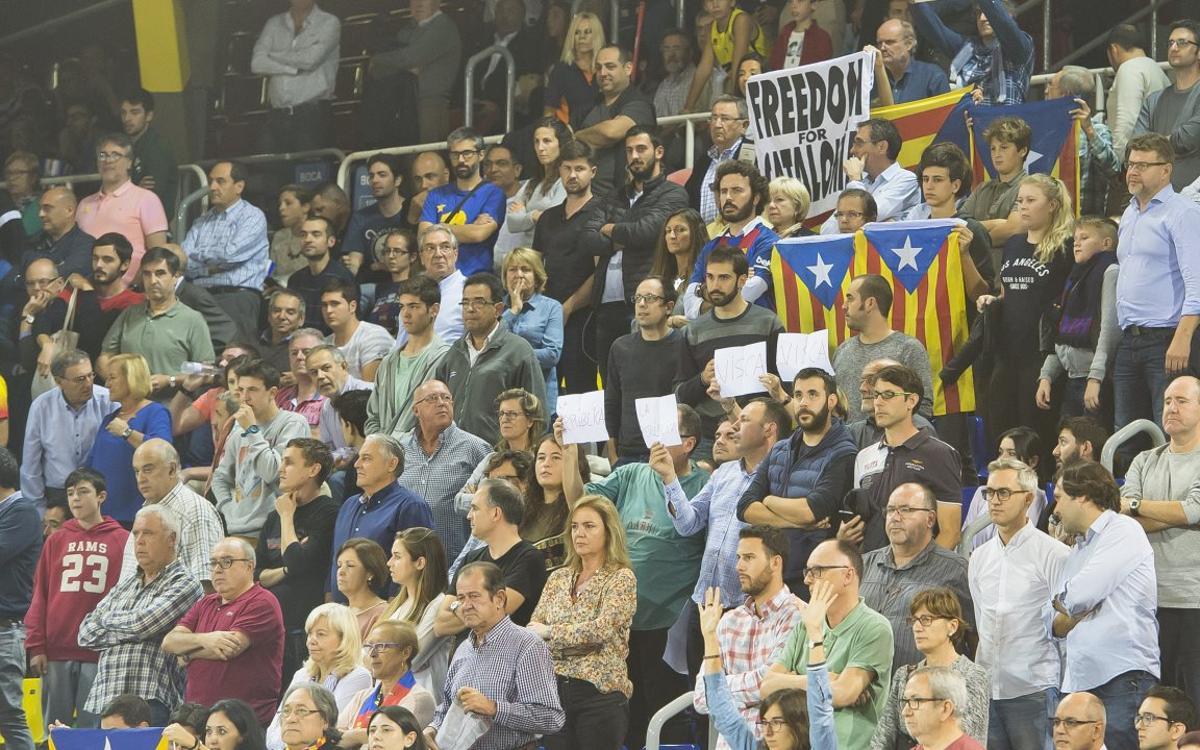 Nit de reivindicació al Palau Blaugrana