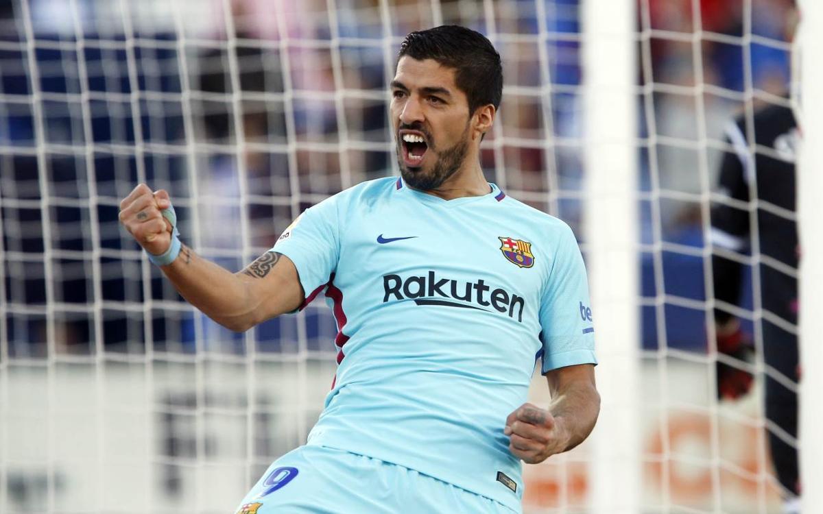 CD Leganés - FC Barcelona: Luis Suárez guía al líder (0-3)