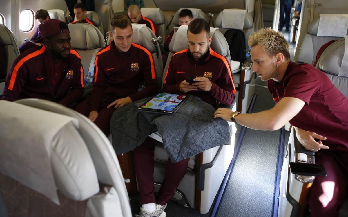 Así ha sido el viaje del FC Barcelona a Atenas